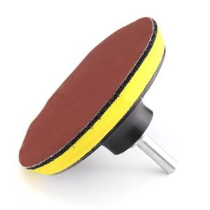 Image 2 - 10 adet zımpara Disk zımpara kancası döngü 1000 Grit + destek pedi + matkap adaptörü yuvarlak zımpara sekiz delikli Disk kum levhalar