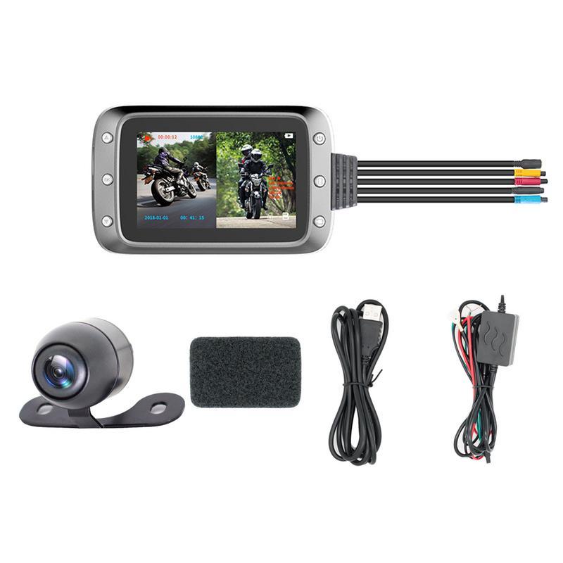 KG-MT20 moto DVR Dash Cam Full HD 1080 P + 720 P vue avant et arrière étanche moto caméra boîte enregistreur noir