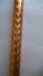 Holographic foil gold color A42  hot stamping on paper or plastic 64cm x 120m