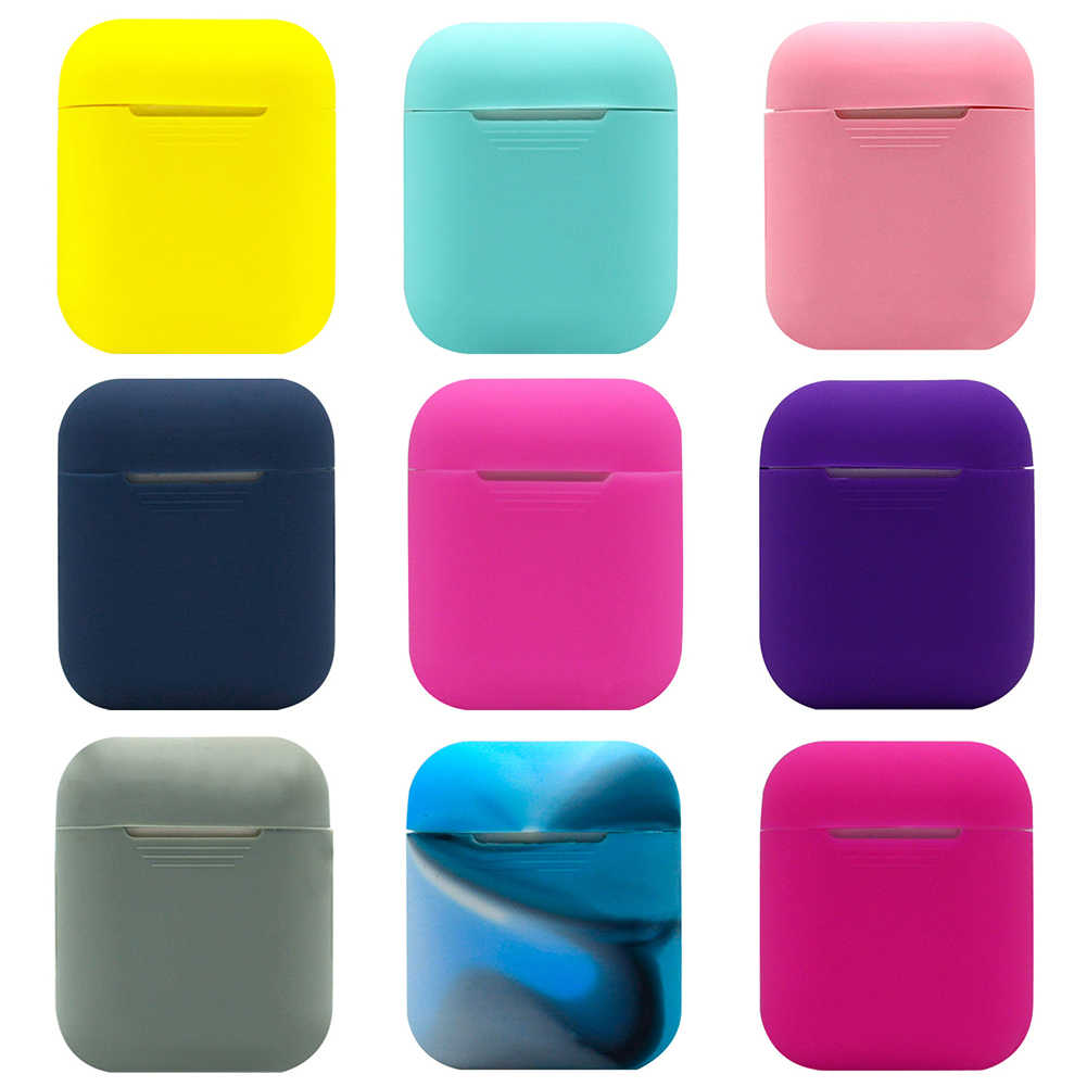 A Portable Ultrathin Case untuk Udara Pods Kasus Silicone Lembut untuk Airpods Shockproof Pelindung Case untuk Airpods Penutup Earphone Case