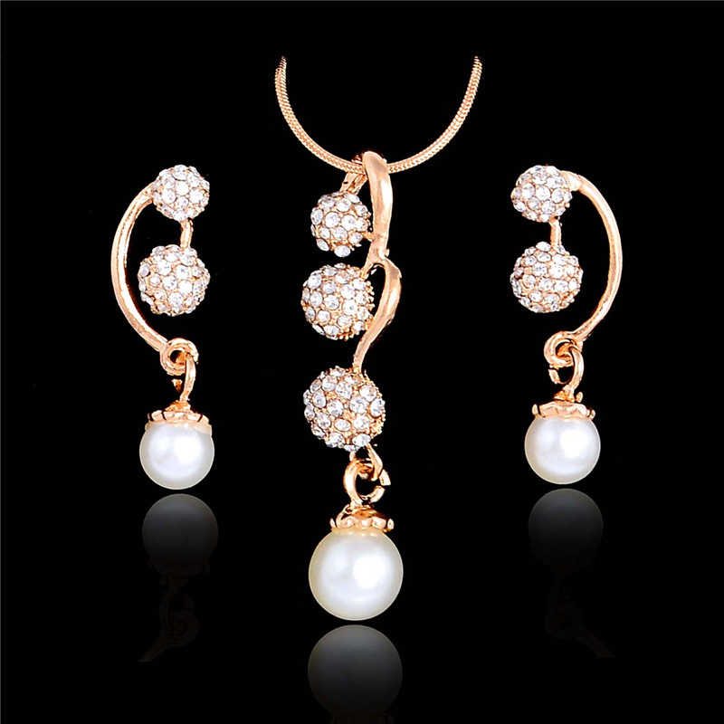 H:HYDE Women Costume Jewelry Accessories High Quality African Jewelry Set Round Ball Pendant Necklace Earring Sets