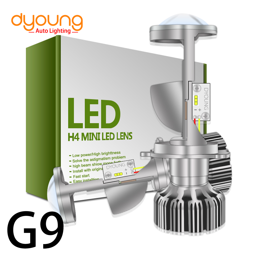 DYOUNG g9 2PCS New LED Car Headlights h4 mini led Lens g6 3000k Car Led Lamp Lighting Replacement Bulbs Auto headlamp hi/lo beam
