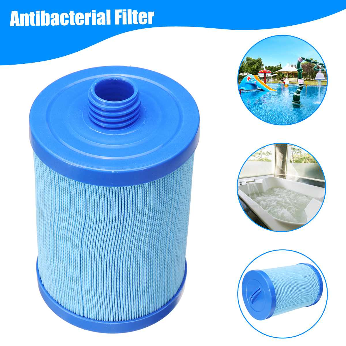 Swimming Pool Spa Filter Cartridge Replacement Antibacterial Filter Water Filter Cleaner Pool Accessories