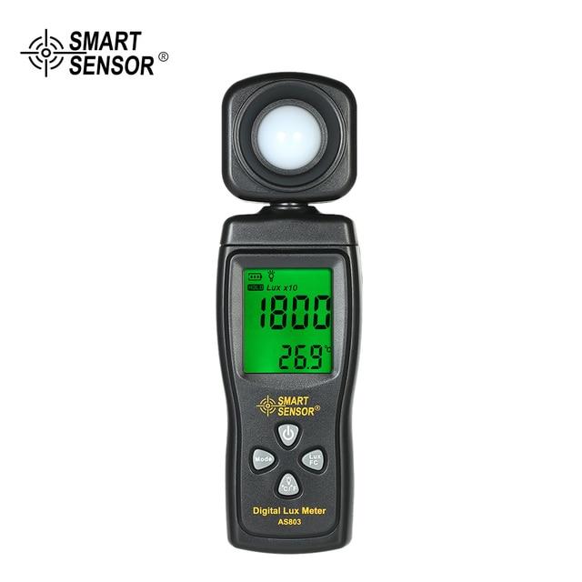 AS803 Luxmeter Medidor de Luz Digital Lux Medidor Fotômetro Luminômetro Fotômetro Luxmeter Medidor de raios uv Radiômetro UV LCD Handheld
