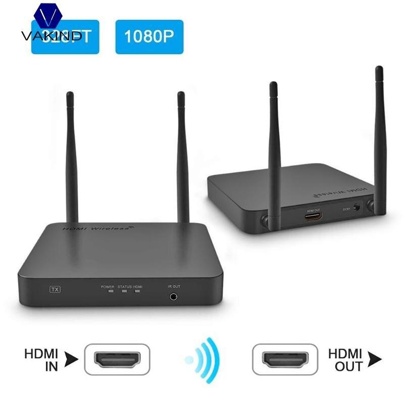 Nouveau système de Transmission sans fil 5 GHz transmetteur et récepteur d'extension HDMI 100 m vidéo WIFI Kit d'expéditeur HDMI sans fil
