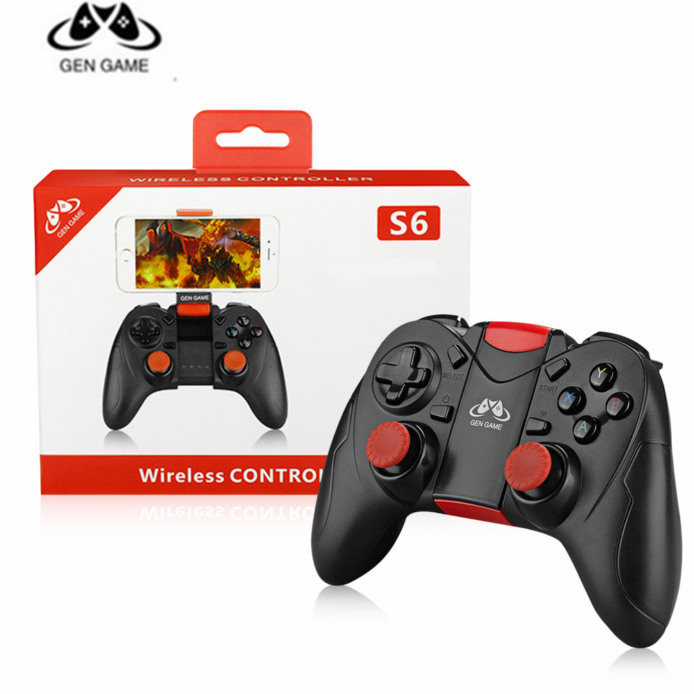 2018 GEN GAME S6 Enhanced Edition Wireless Game Controller Bluetooth2.1 connection and wireless connection 380mAh Li-ion battery2018 GEN GAME S6 Enhanced Edition Wireless Game Controller Bluetooth2.1 connection and wireless connection 380mAh Li-ion battery