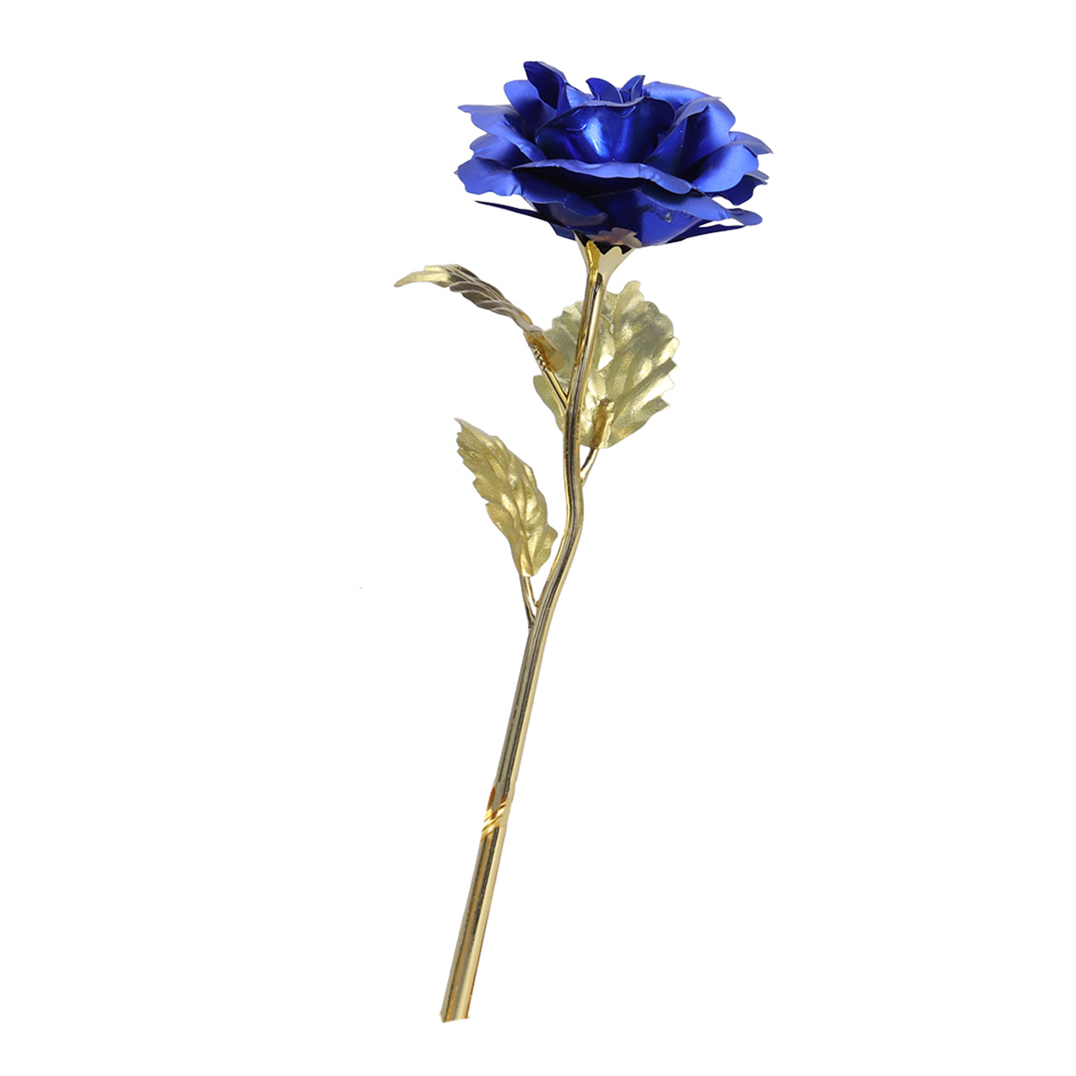 24K Gold Foil Rose Valentines Day Mothers Day Birthday Wedding Anniversary Gift (Blue)
