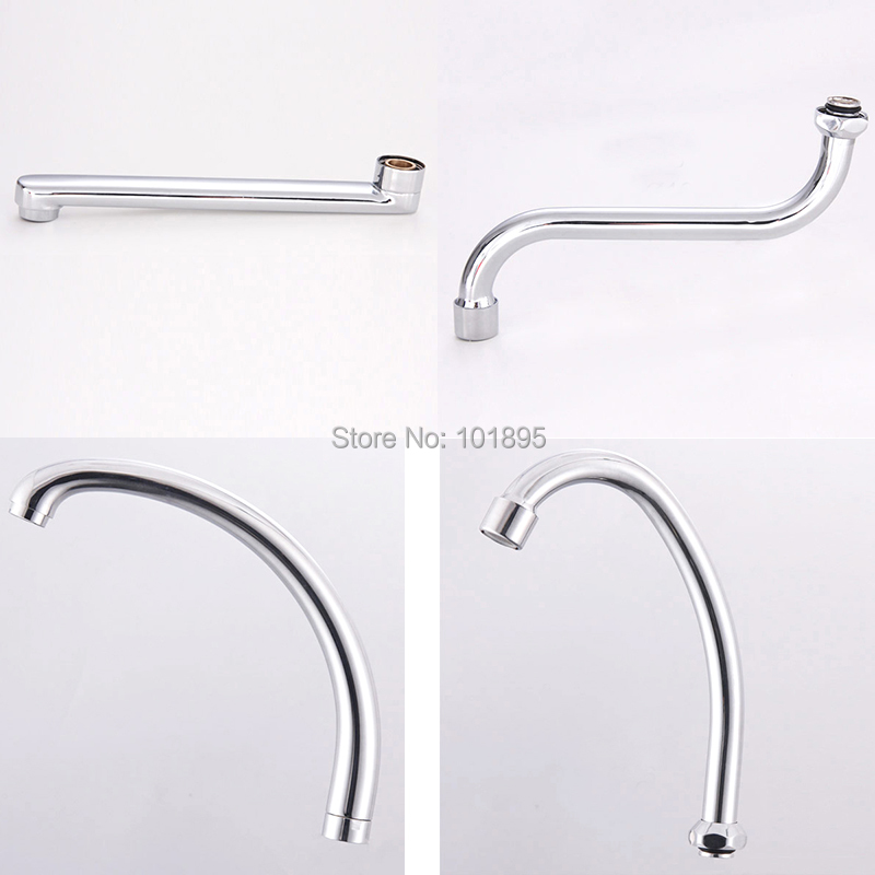 Metal Material Chrome Plated Kitchen Faucet Spout