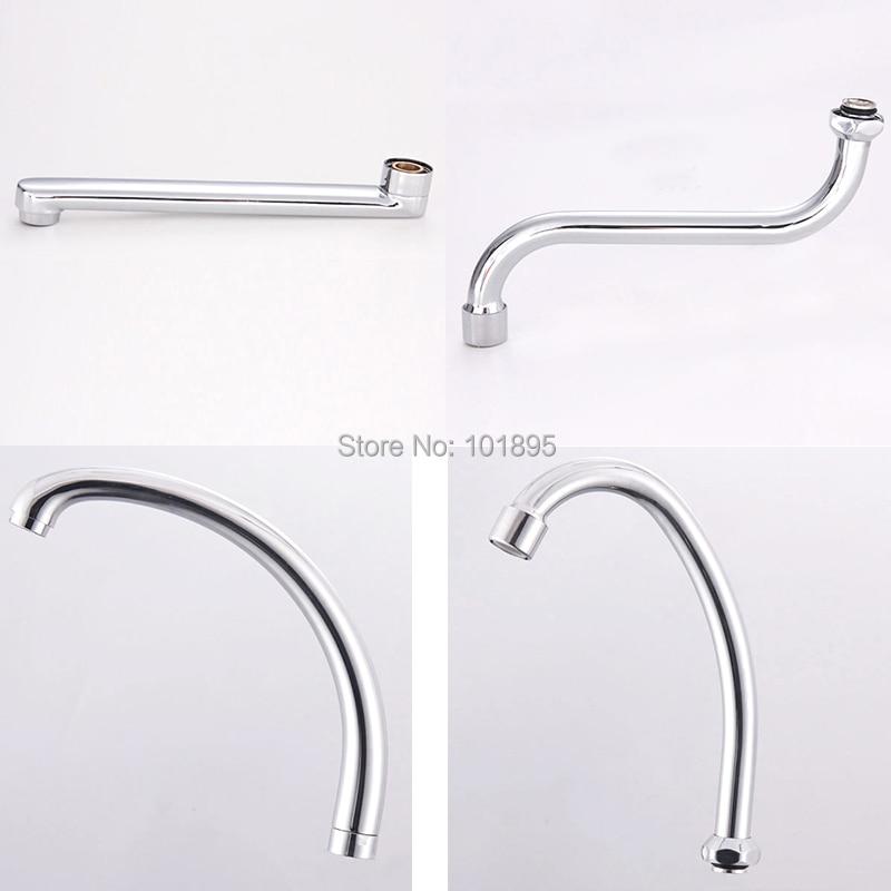 Metal Material Chrome Plated Kitchen Faucet Spout