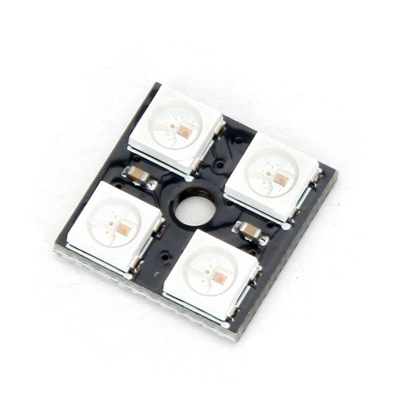 Новый электрический блок 1 шт 4 бит WS2812 5050 RGB светодио дный драйвер развитию Новый Электрический DC 5 V 15 мм х 15 мм модули доска