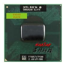Процессор Intel Core 2 Duo T9500 SLAQH SLAYX, двухъядерный процессор 2,6 ГГц с двумя потоками, 6M, 35W Socket P