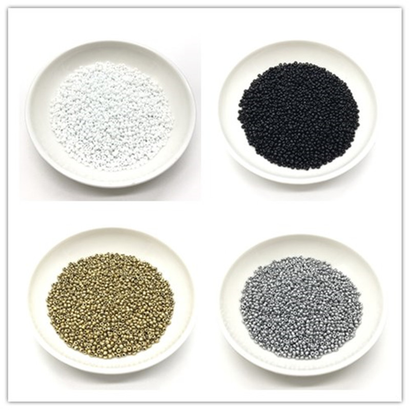 2/3/4mm Gold /silver /black /white round with holes Czech glass seed beads for jewelry makeing DIY Bracelet necklace(China)