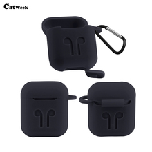 Earphone Case For Apple Airpods Strap Soft TPU Headphone Case Bags Earphone Accessories For Airpods Air Pods Shockproof Skin Bag