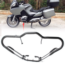 for BMW R1200RT 2005 2006 2007 2008 2009 2010 2011 2012 2013 Motorbike Front Bumper Safety Highway Crash Bar Guard Protector rear highway crash bars guard protection for trunk protection for bmw r1200rt 2005 2013 silver