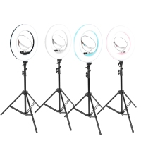 Makeup LED Flesh Selfie Ring Lamp Photography Lighting Video Live Diffuser Light with Tripod Tools