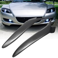 Real Carbon Fiber Headlight Eyebrows Eyelids Cover For Mazda RX 8 RX8 2004 2008