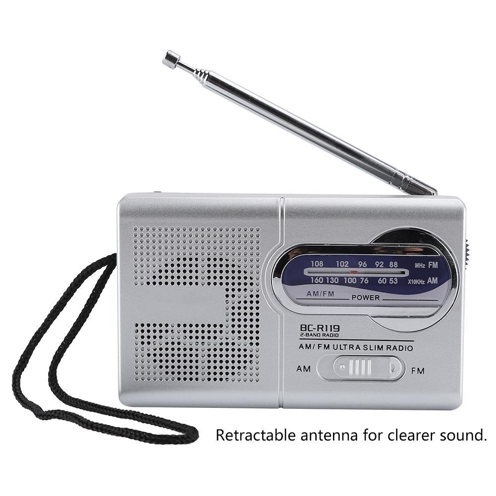 Radio Multi-funktion Mini Pocket-am/fm Bc-r119 Radio Lautsprecher Empfänger Teleskop Antenne Stark Und Haltbar