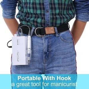 Image 5 - Wiederaufladbare Nagel Bohrer Maschine Kit Elektrische Nagel Polierer Set Cordless Tragbare Maniküre Set Optional EU/Us stecker