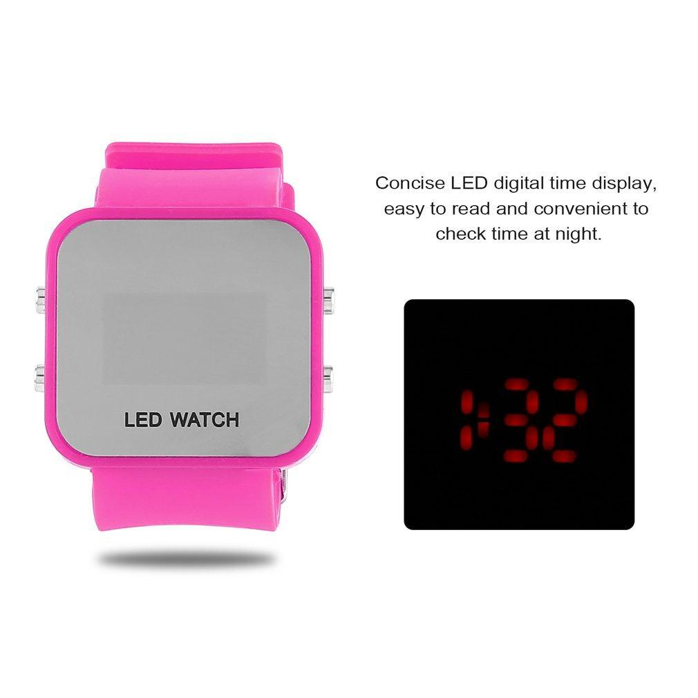 New Design LED Digital Children Watch Fashion Students Watch Square Shape Watch Dial Hot Sale