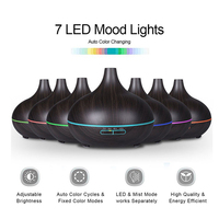 NEW 300ml Air Humidifier Essential Oil Diffuser Aroma Lamp Aromatherapy Electric Aroma Diffuser Mist Maker for Home Wood