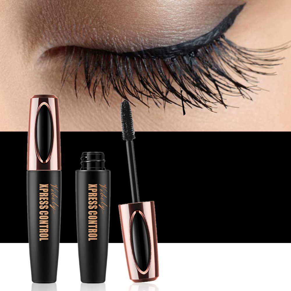 ea4aa316216 Vibely 4D Silk Fiber Eyelash Mascara Long-lasting Extension Makeup Kit  Black Natural Waterproof Eye