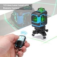 12 линий 360 самонивелирующийся лазерный измеритель уровня с дистанционное управление портативный мини крест Лазерные уровни метр выравнива