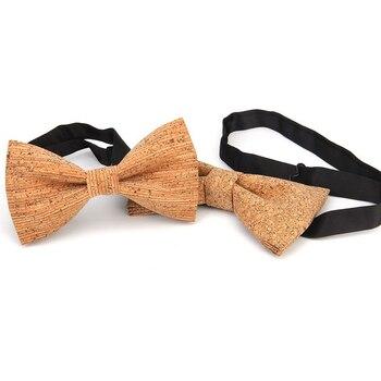 7e1668d88 Cork pajarita de madera para hombre novedad hecho a mano lazo sólido boda  fiesta estampado corbata Hombre Nuevo estilo Blazer corbatas 24 colores
