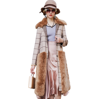 Wool coats for women winter clothes women wool double sided coat fur one female long section double faced Fur