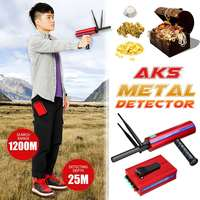 AKS Metal Detector Underground 25m Gold Silver Gold Diamond Detector Treasure Search Long Range Portable Treasure Finder Seeker