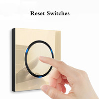 with USB Champagne Gold 1 2 3 4 Gang 1 Way 2 Way Glass Mirror Switch 86 type Wall Switch France Germany UK socket Household