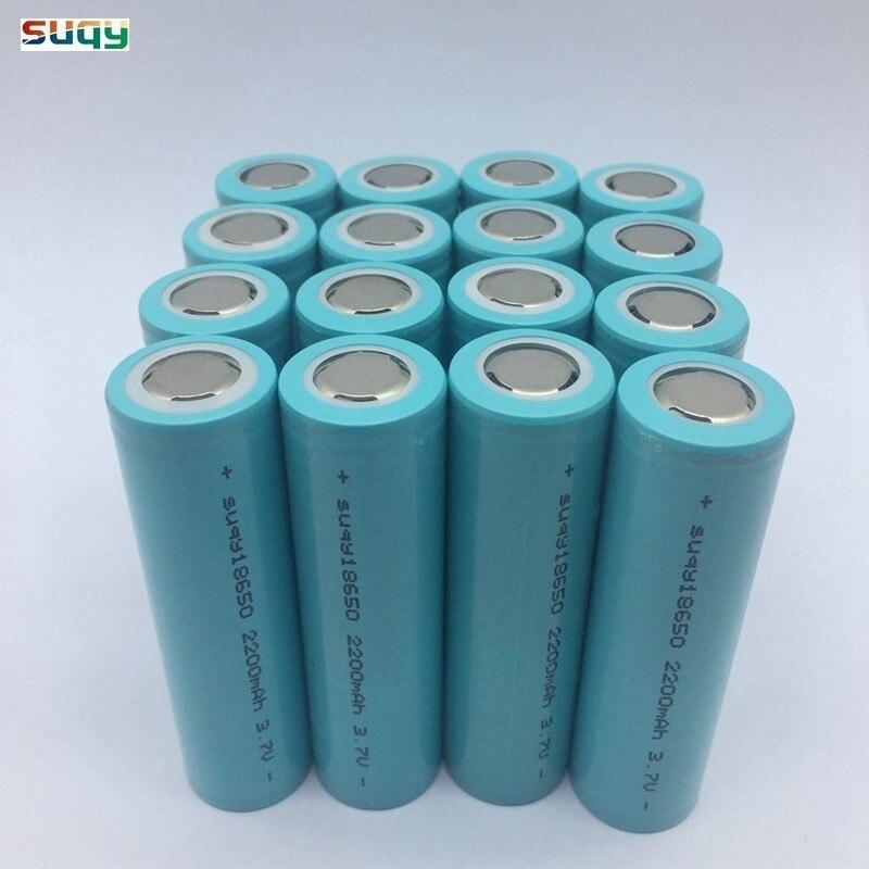 Suqy 12-40 pièces d'origine li-ion Bateria 18650 Batteries rechargeables au Lithium 18650 2200mAh batterie Rechargeable Avec Chargeur