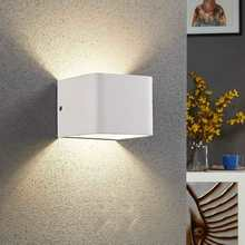 Modern LED Wall Lamp White/Black Aluminum Wall Light 5W COB Bulb Indoor Bar Cafe Corridor Bedroom Wall Mounted Sconce led wall lamps wall mounted sconces modern wall sconce lustre iron painted white black wall light 5w outdoor and indoor lighting