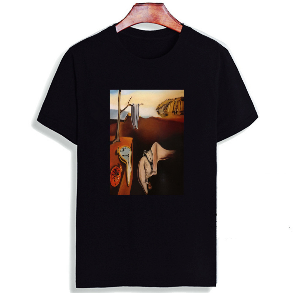 Skipoem Funny T shirt  Salvador Dali Surreal Art Cotton O Neck Tshirt Plus Size Short Sleeve Brand  T Shirt Tops|T-Shirts|   - AliExpress