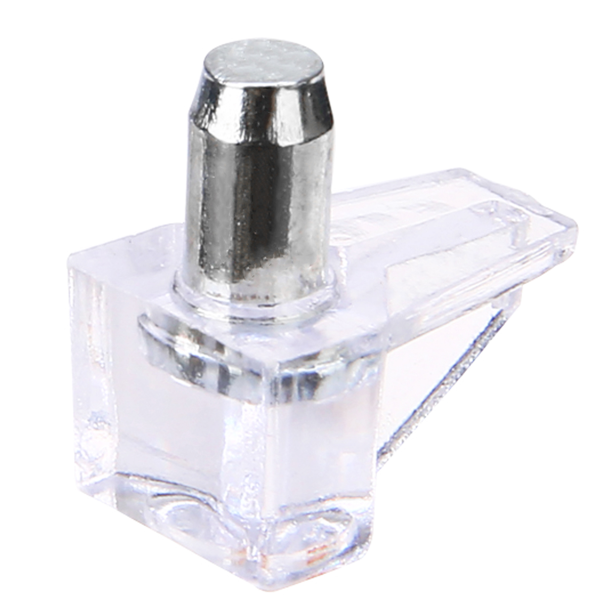 GLASS SHELF SUPPORT WITH PLASTIC COLLAR M5 5mm STUD METAL PEGS KITCHEN