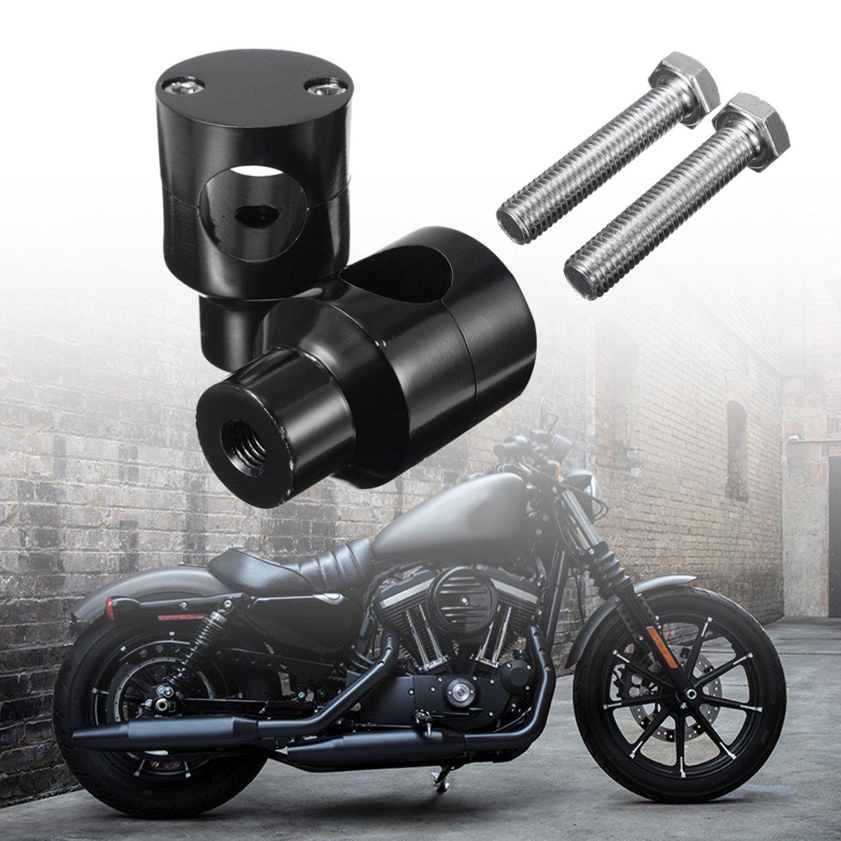 "Motorfiets 1 ""zwart Stuurrisers Voor Harley-davidson Blackline Cross Bones Dyna Electra Glide Sportster 1200 883"