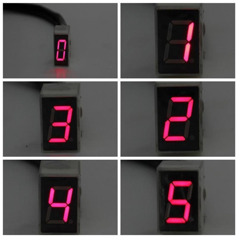 Universal Motorcycle LED Digital Gear Indicator Display Shift Lever Sensor High Quality Auto Car Accessroy Instruments Promotion