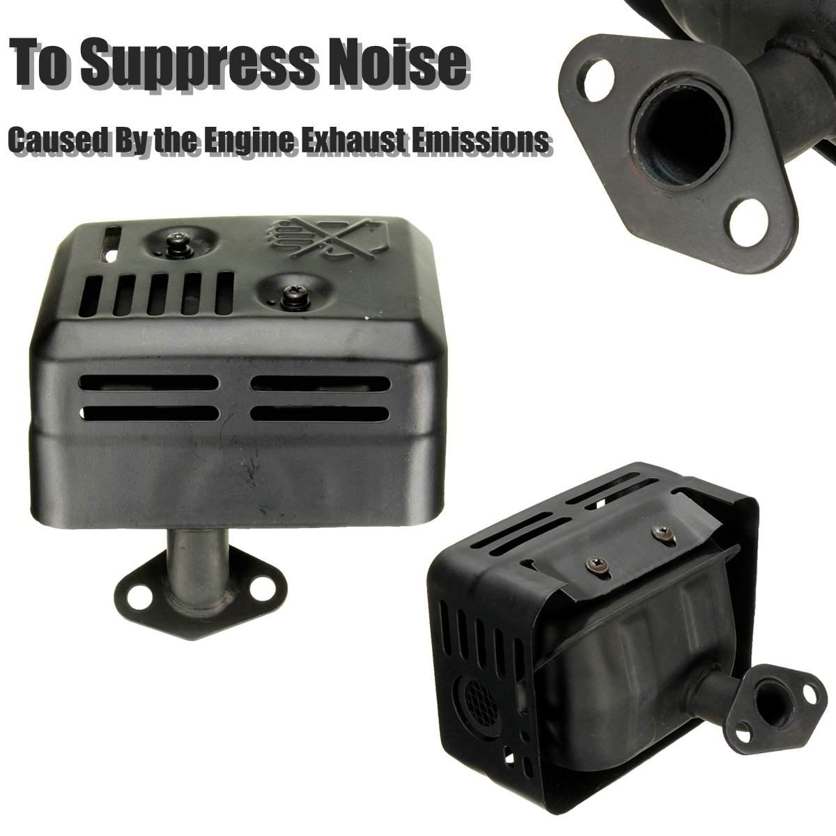 novo sistema de escape silenciador com escudo termico para honda gx120 gx160 gx200 5 5 para
