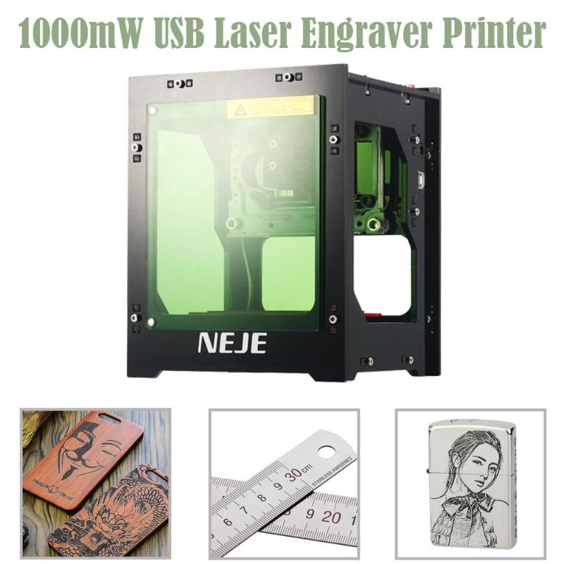 3D imprimante Cutter NEJE DK-8-KZ 1000 mW USB Laser automatique gravure Machine de découpe bricolage graveur