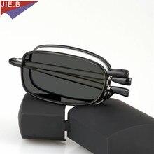 Bijgewerkt Nieuwe Overgang Zon Meekleurende Leesbril Mannen Vrouwen Unisex Slim Mini Folding Leesbril draagbare gevallen