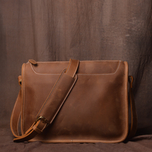 Handmade leather men's bag retro shoulder bag