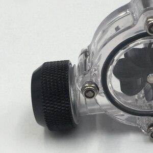 Image 4 - G1/4 นิ้ว Flow INDICATOR,CLEAR หลัก,ใบมีดสีดำ, matte Black PC คอมพิวเตอร์ระบบ Flow Meter ตัวบ่งชี้
