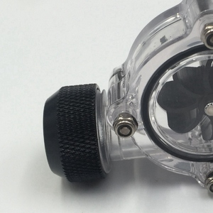 Image 4 - G1/4 Inch Flow Indicator,Clear Main Body,Black Blade,Matte Black Pc Computer Water Cooling System Flow Meter Indicator