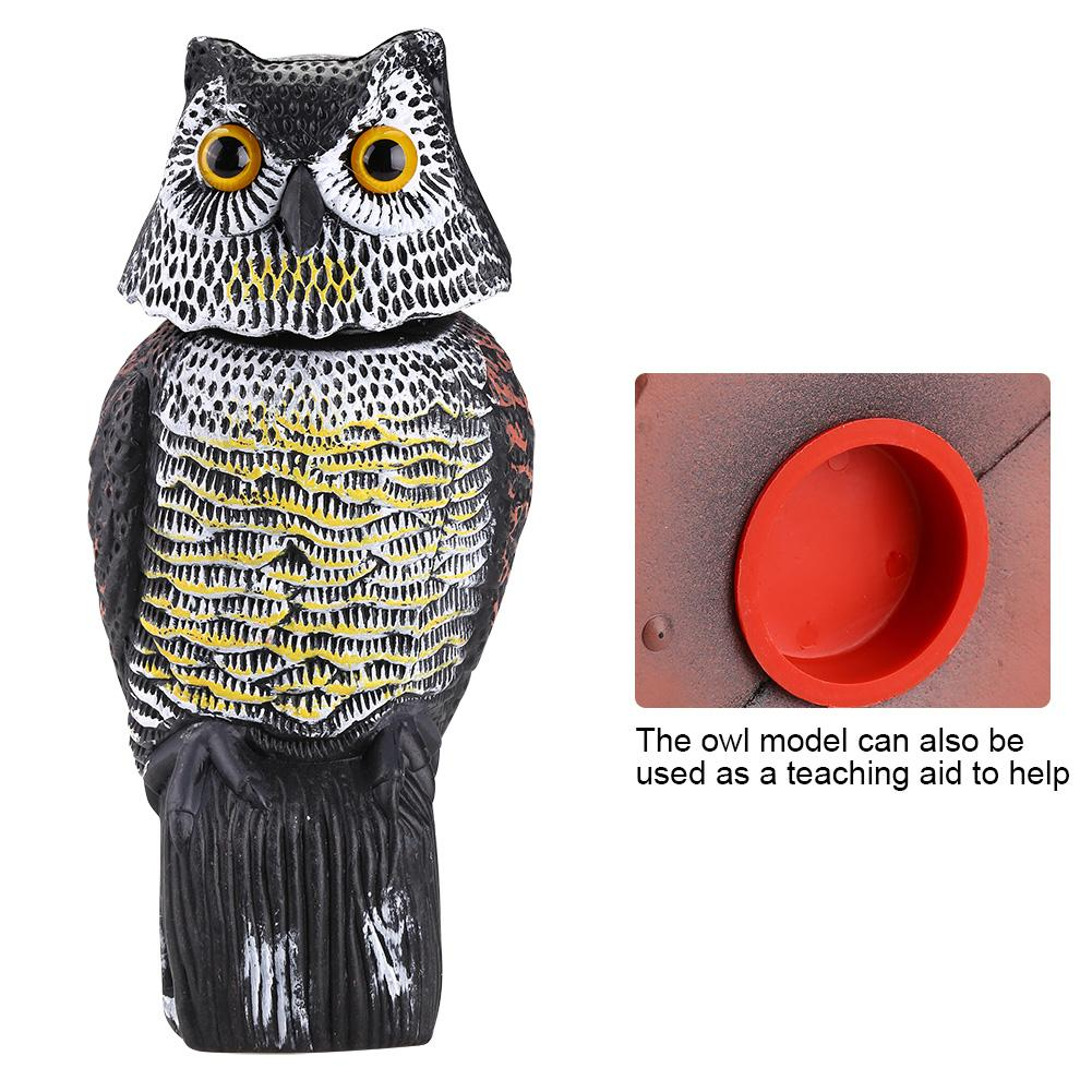 Image 5 - Realistic Bird Scarer Rotating Head Sound Owl Prowler Decoy Protection Repellent Bird Pest Control Scarecrow Garden Yard Move-in Repellents from Home & Garden