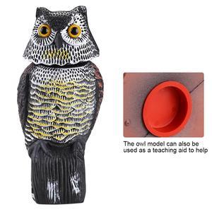 Image 5 - Realistic Bird Scarer Rotating Head Sound Owl Prowler Decoy Protection Repellent Bird Pest Control Scarecrow Garden Yard Move
