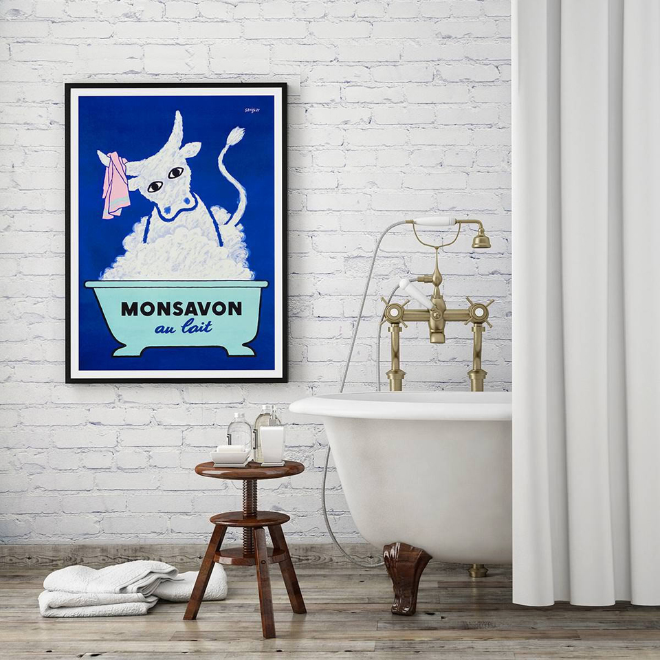 Cute Posters And Prints Bathroom Room Decor Wall Art Prints Funny Cow Bubble Bath Time Home Decorative Nordic Framed Canvas Art Painting Calligraphy Aliexpress