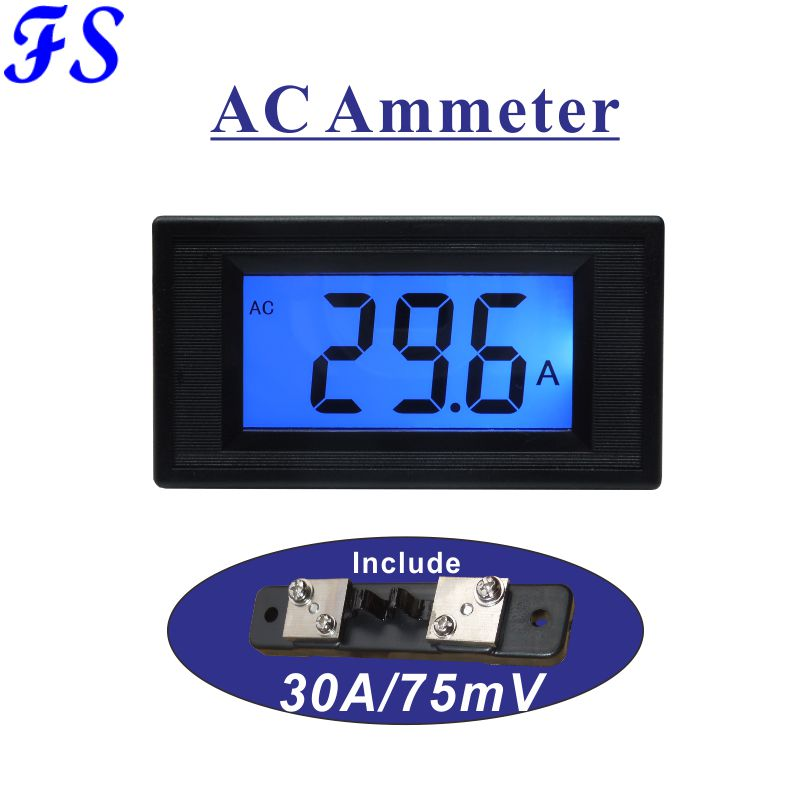 Electrical Instruments Free Shipping Dc 50a 0.4 Led Digital Current Meter Include Shunt 50a/75mv Dc Ampere Meter Dc Ammeter Amp Panel Meter 76*39.5mm