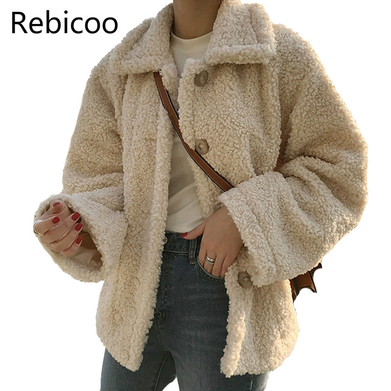 2019 New Winter Lambs Wool Jacket Women   Parka   Lapel Thicken Cotton Coat Women Lambswool Coats