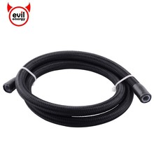 evil energy Universal AN6 PTFE E85 Fuel Line Oil Fuel Nylon Braided Hose Line Tubing PTFE Hose Pipe 1Meter evil energy an6 1meter braided ptfe oil line fuel hose oil gasoline brake line hose for racing motorcycle 3 3ft ptfe hose