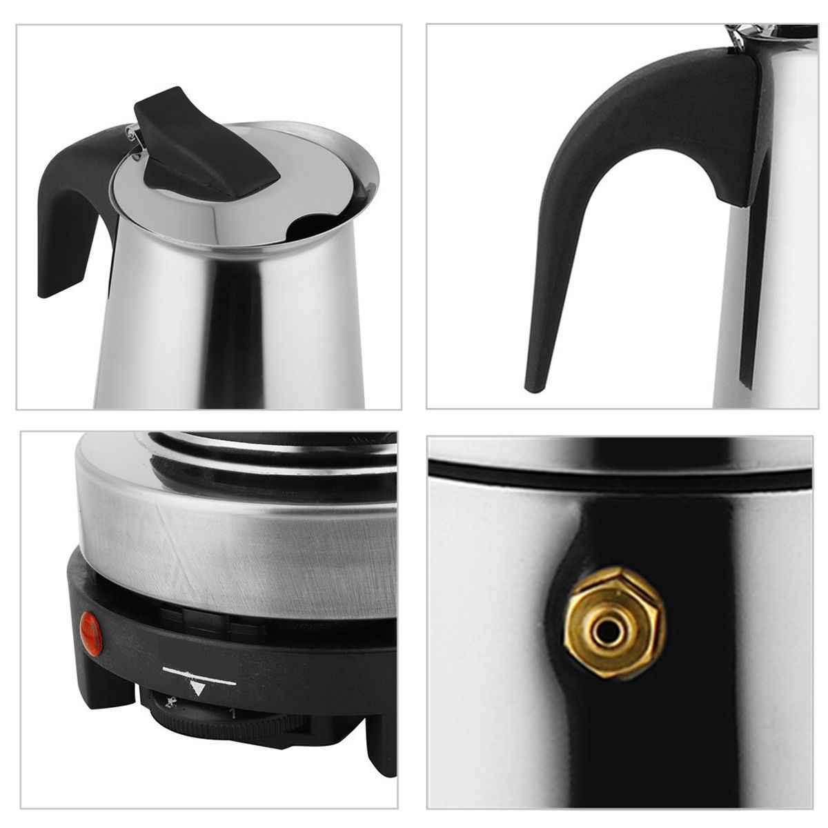 Кофеварка из нержавеющей стали с фильтром, 450 мл, 9 чашек