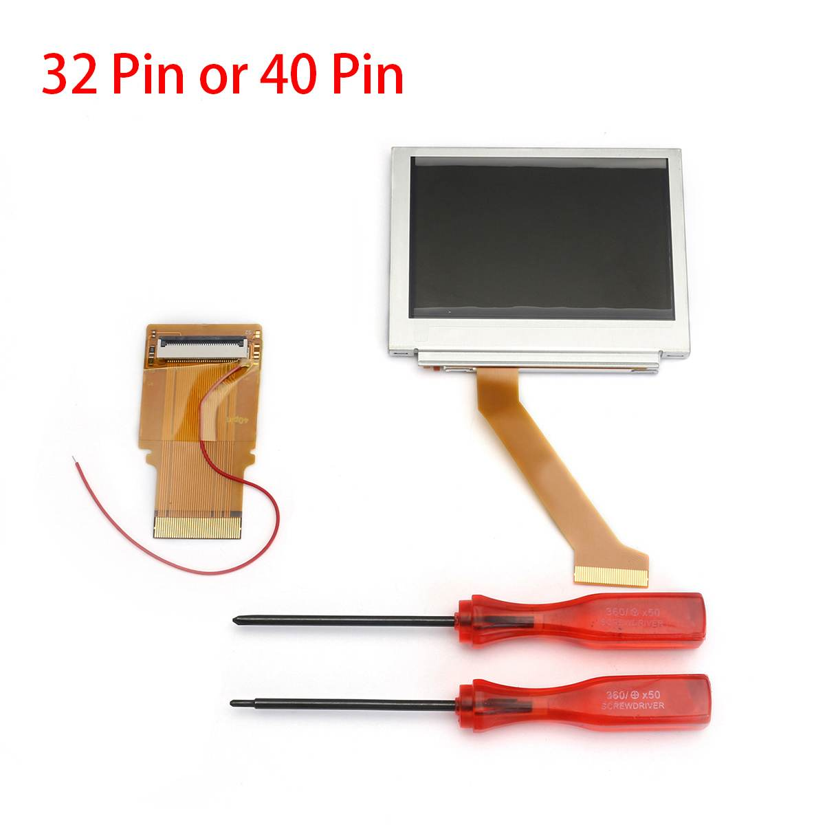 40 Pin/32 Pin Ruban Câble Rétro-Éclairé Adaptateur + GBA SP AGS 101 Rétro-Éclairé Écran Mod Kit Pour Jeux boy Advance Vidéo Pièces De Rechange